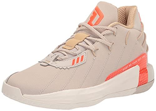 adidas Unisex Dame 7 Basketball Shoe, Brown/Solar Red/Cream White, 12 US Men