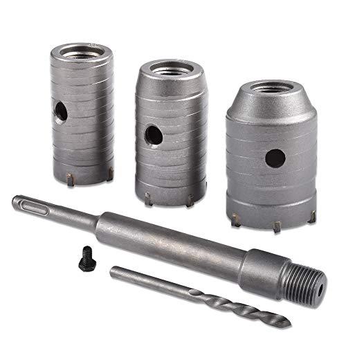 KATUR 30,40,50mm SDS Plus Trépan Scie Cutter Béton Ciment Béton Foret De Mur Pour Brique Béton Ciment Pierre (Diamètre 30,40,50mm)