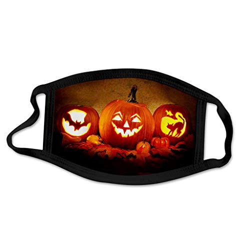 Btruely Halloween Face Cover Multifunktionstuch Motorrad Winddicht Atmungsaktiv Mundschutz Halstuch Schön Atmungsaktiv Sommerschal Augenschutz