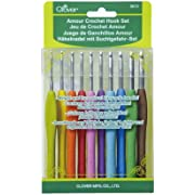 Clover 3672 Amour Crochet Hook Set, 10 sizes