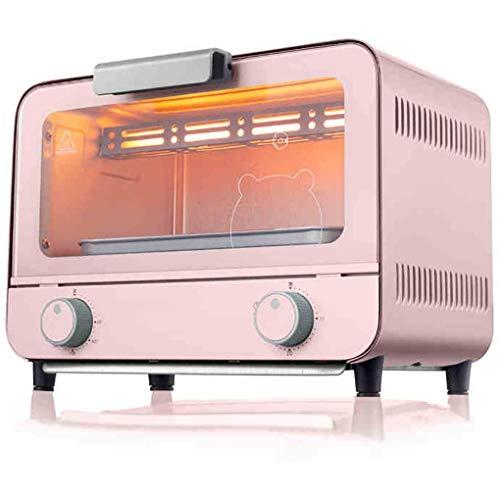 CCLLA Mini Horno de 9 l, Temperatura Ajustable 50-230 ℃ y Temporizador de 30 Minutos Horno doméstico Multifuncional para Hornear Pasteles Horno Tostador de encimera de convección