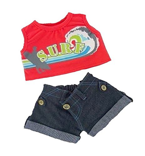 Build Your Bears Wardrobe 5060322143064 Red Sufer Outfit Teddybär Kleidung