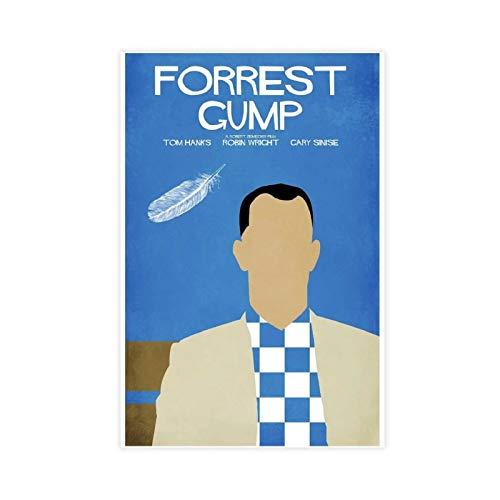 Forrest Gump Lot de 12 affiches sur toile pour décoration de chambre à coucher, de sport, de bureau, de chambre, cadeau, 30 x 45 cm