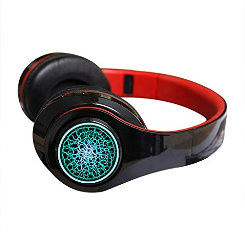 KK Zachary Auriculares Inalámbricos, Auriculares Plegable OverEar, Auriculares Inalámbricos Bluetooth 5.0 Y Reducción De Ruido Suave Memoria-proteína Orejeras Surround Sound Gaming Headset For PC/Te