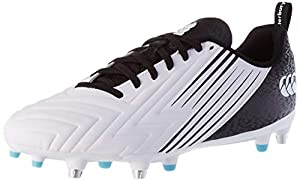 canterbury Men's Speed 3.0 Soft Ground Rugby Shoe, White/Black/Angel Blue from Canterbury