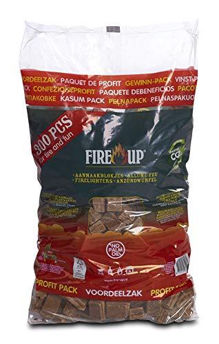 Fire-Up kolenaansteker, barbecue-aanmaakblokjes, hoogwaardige aanstekers, 300 stuks
