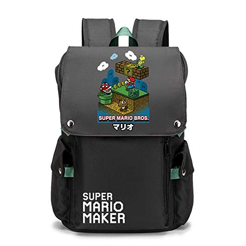 Super Mario Backpack Women's New Korean Version of The Oxford Cloth Small Backpack Ladies All-Match Fashion Large-Capacity Canvas School Bag