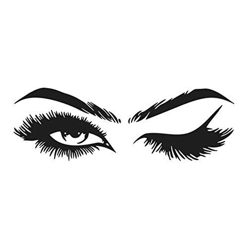 Cafopgrill Wimpern Wand, Aufkleber Wandtattoo Wimpern Augen Augenbrauen Schönheit Dekoration Make Up Wandaufkleber