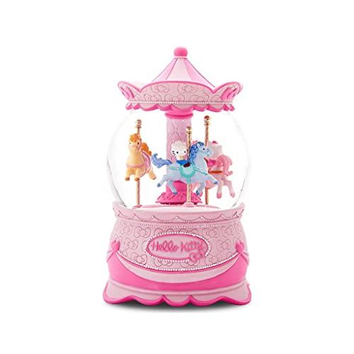 ZHIHUI Caja de Música Merry Go Redondo Caja de Música de La Bola de Cristal para Las Niñas Y El Día de Las Niñas Regalos del Día de San Valentín (Color : A)