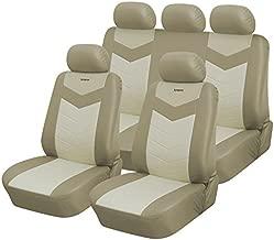 Full Set Protective Vinyl Car Seat Covers for Nissan Sentra 2000-2019 (Caramel)