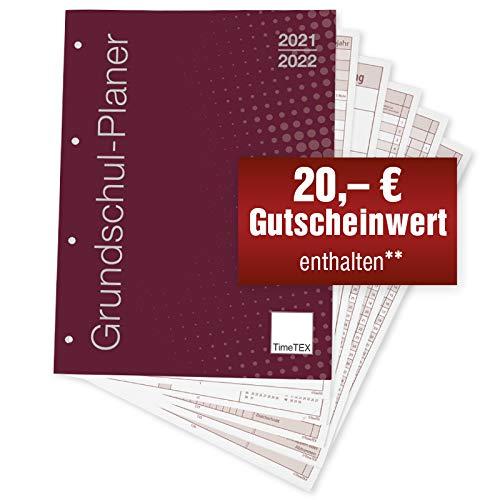TimeTEX Grundschul-Planer - Loseblatt-Einlage A4-Plus - Schuljahr 2021-2022 - Lehrerkalender - Unterrichtsplaner - Schulplaner - 10719