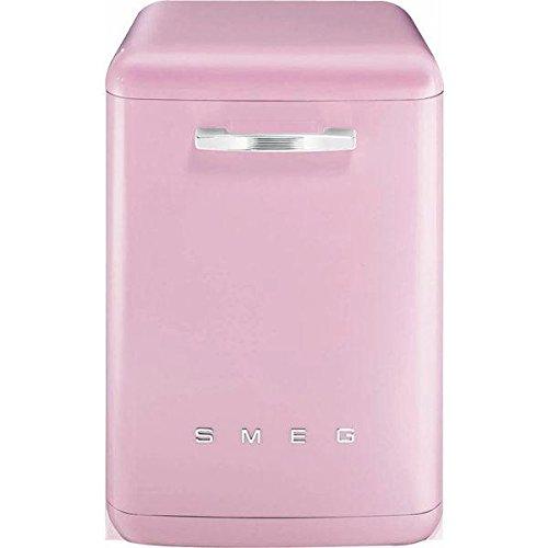 Smeg Lavavajillas de pie LVFABRD Cadillac, color rosa