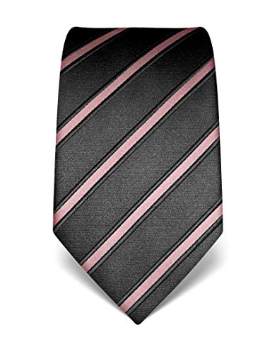 Vincenzo Boretti Corbata de hombre en seda pura, de rayas rosa