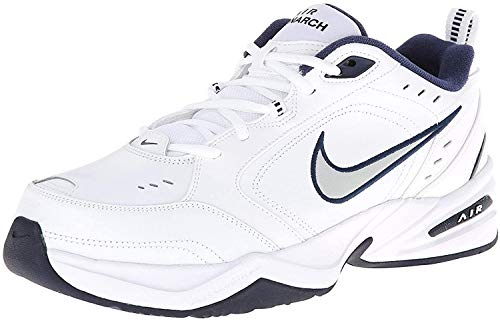 Nike Air Monarch IV Men's Extra Wide Width 4E Shoes White/Metallic Silver 416355-102 (11.5 4E US)