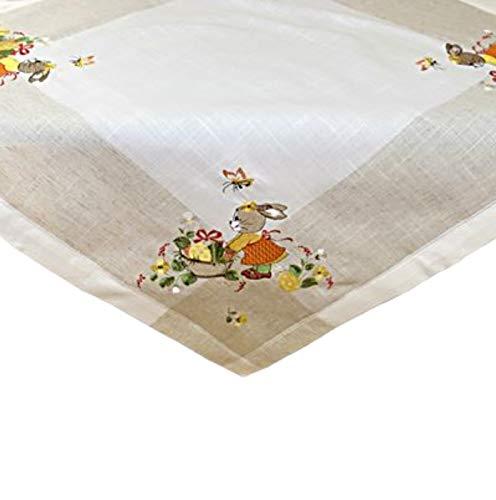 Tischdecke 85 x 85 cm Mitteldecke Stickerei