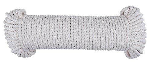 CON:P B34181 Baumwollschnur 5 mm x 50 m, naturweiß, UV-beständig