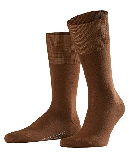 FALKE Herren Airport M SO Socken, Blickdicht, Braun (Deer 5536), 43-44 (2er Pack)