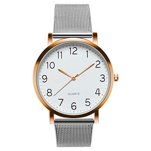 Neu Armbanduhr Männer Men Fashion Stainless Steel Analog Date Sport Quartz Wrist Watch Uhr Armbanduhr