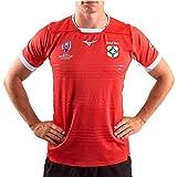 JUNBABY Maillot De Rugby De La Coupe du Monde Tonga 2019, T-Shirt De Football Argentine Maillots Manches Courtes Hommes-Orange-XXXL