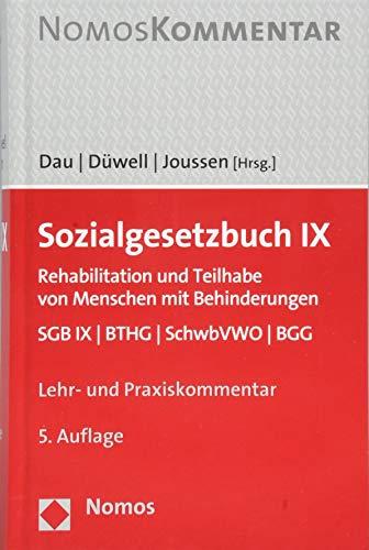 Sozialgesetzbuch IX: Rehabilitation und Teilhabe von Menschen mit Behinderungen. SGB IX | BTHG | SchwbVWO | BGG