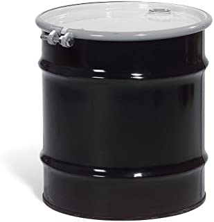 New Pig DRM970 Open-Head UN Rated Lined Steel Drum with Bungs, 20 Gallon Storage Capacity, 19