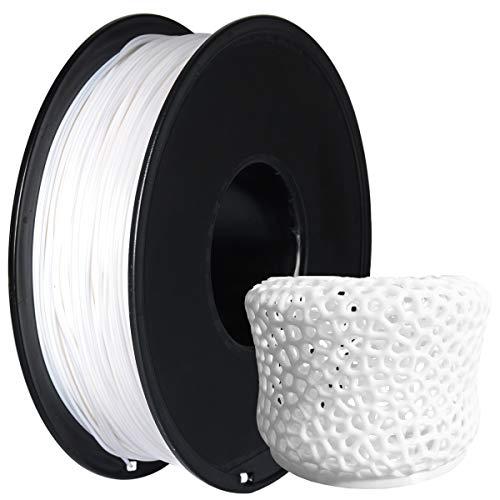 GIANTARM Filamento PLA 1,75 mm Per Stampante 3D, 1 kg, PLA Bianco