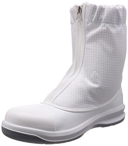 [ミドリ安全] 静電安全靴 クリーンルーム向け トゥキャップ付き ブーツタイプ GCR1200 フルCAP ハーフ メンズ ホワイト 25.5 cm 3E