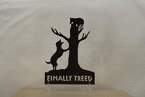 The Hunt Is Over Cake Topper- Coon Dog And Treed Raccoon - Finally Treed Cake Topper And Keepsake. Coon Hunting