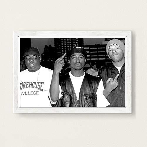 Die berüchtigten Big Biggie Smalls Tupac PAC Shakur Hip Hop Gangsta Rap Musik Kunst Malerei Poster Wand Wohnkultur Hochwertige Wohnkultur für Kinderzimmer40x60cm