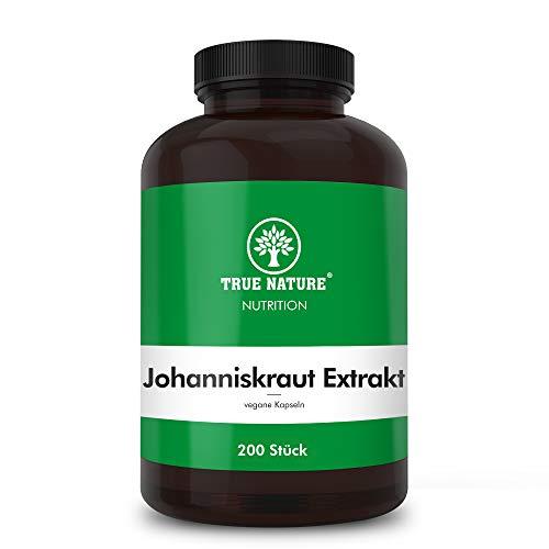 TRUE NATURE® Johanniskraut Kapseln - 185 Stück mit Hypericin - 10.800mg - EINFÜHRUNG - Echtes Hypericum Mehrfach LABORGEPRÜFT & Hochdosiert