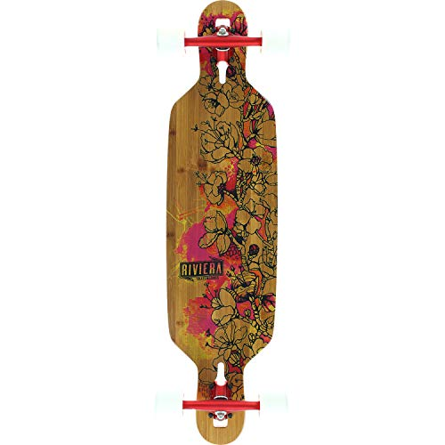 riviera longboards Riviera Skateboards Fire Blossoms Longboard Complete Skateboard - 9.5