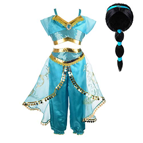Tacobear Jasmine Costume for Girls Arabian...
