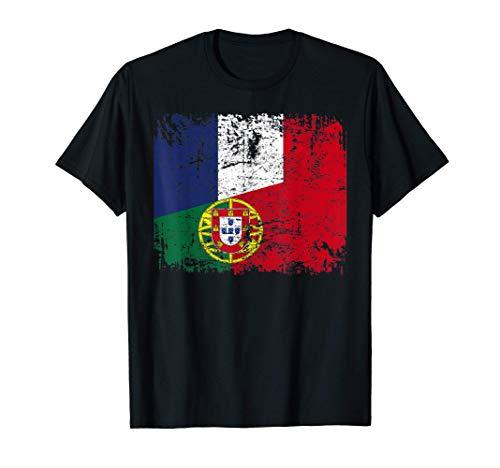 PORTUGAL FRANCE DRAPEAU DE L'AMITIÉ FRANÇAIS T-Shirt