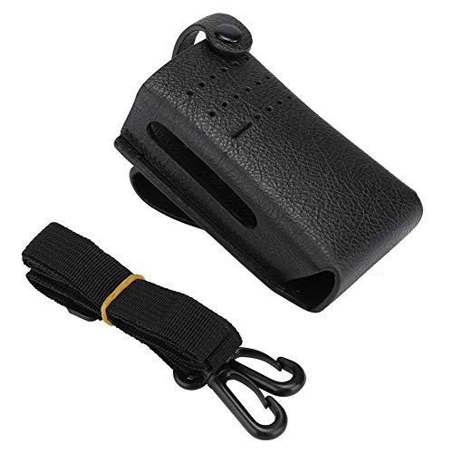 Radio Halter, Radio Walkie Talkie Zubehör Funkgerät Tragbarer Schutz PU Ledertasche Tasche Radio Beutel Geeignet für Motorola P6600