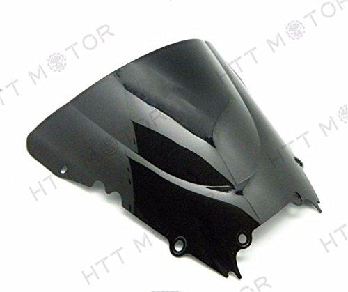 SMT-Dark Smoke Windscreen Windshield Compatible With Yamaha Yzf R6 1998-2002 1999 2000 2001 2002 [B00RUDYAME]