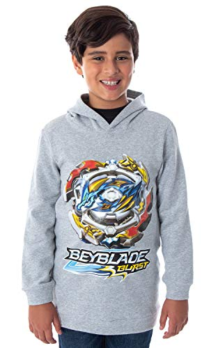 Beyblade Burst Boys' Ace Dragon Spinner Top Pullover Hooded Sweatshirt Hoodie (MD, 8)