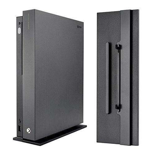 eXtremeRate Standfuß Rutschfester Vertikaler Ständer mit Integrierte Lüftungsschlitze und beschichteten Füße für Xbox One X Konsole