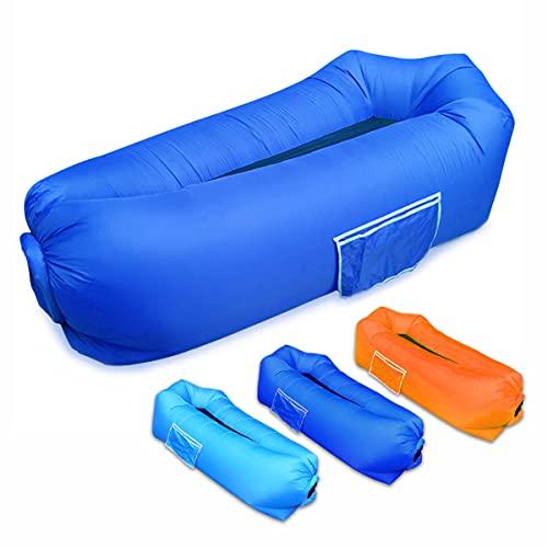 SUPTEMPO Aufblasbares Sofa, Luftsofa Outdoor Wasserdichtes Air Lounger tragbarer Sitzsack Aufblasbare Luftcouch für Camping Picknicks, Garten, Strand