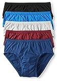 Jockey Life 5-Pack Men's 24/7 Comfort Cotton Low-Rise Briefs - Assorted (S)