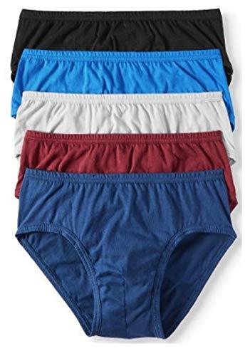 Jockey Life 5-Pack Men's 24/7 Comfort Cotton Low-Rise Briefs - Assorted (XL)