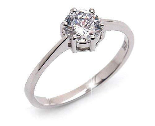 Silvity 111111-20 Verlovingsring voor dames, 925 zilver, zilver