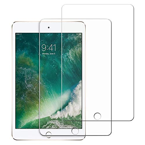Screen Protector For i-Pad 5th, 6th Generation [2 Pack] ipad9.7 inch Tempered Glass Air1 Air2 Film [Case Friendly] Easy Installation 9H Hardness Clear - (Transparent)