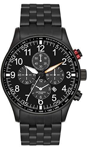 Astroavia V10S , Orologio da uomo, Cronografo, Allarme, Nero
