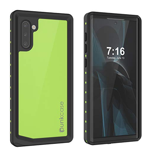 Punkcase Galaxy Note 10 Waterproof Case [StudStar Series] [Slim Fit] [IP68 Certified] [Shockproof] [Dirtproof] [Snowproof] Armor Cover Compatible with Samsung Galaxy Note 10 (2019) (6.3') [Green]