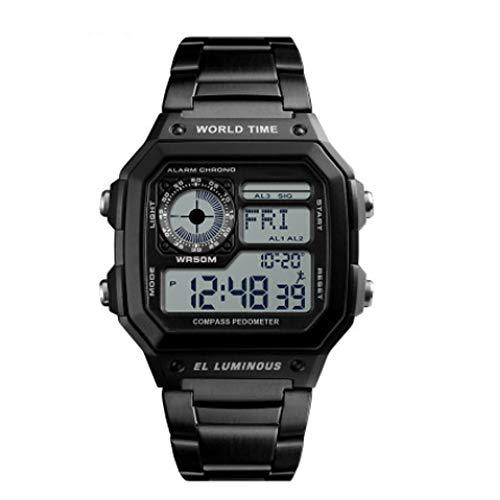 Qi Tai multifunctioneel horloge voor outdoor-bergbeklimmen, waterbestendig, Amerikaanse soldaten, vierkant herenhorloge, survival-sporthorloge, Oro rosa + oro rosa