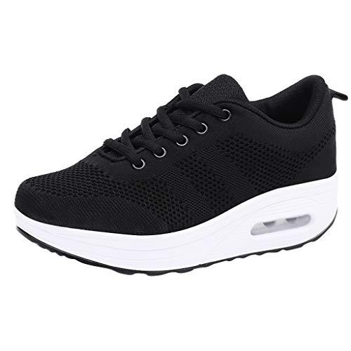 Dragon868 Damen Atmungsaktiv Walking Schuhe Outdoor Plattform Sneakers Freizeit Leichte Laufschuhe Gym Sportshuhe