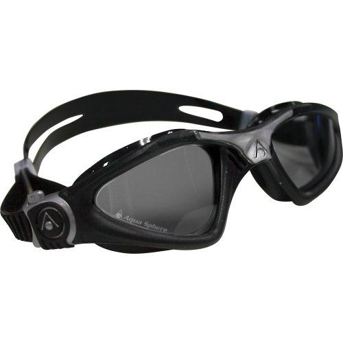 Aqua Sphere Kayenne Swim Goggles with Smoke Lens (Black/Silver)