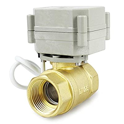 "HSH-Flo 2 Way 1/2"" 3/4"" 1"" 1-1/4"" 12V/24VAC/DC Brass On/Off Auto Return Electrical Position Feedback Motorized Ball Valve (1/2 Inch) from HSH-Flo"
