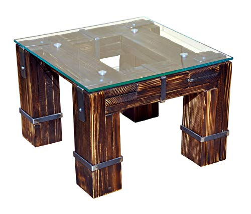 CHYRKA Couchtisch Wohnzimmertisch Loft Vintage Bar IndustrieDesign Handmade 120x60cm Holz Metall