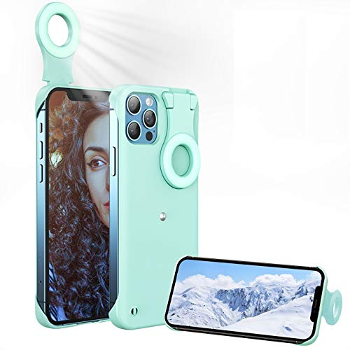 Selfie Ring Light Case for iPhone 11 Pro MAX, Fill Light Case for iPhone 11 Pro MAX, Selfie Case with Rechargeable LED Illuminated Cover Perfect for Photos/Live Stream/Makeup/Youtube Video for Women